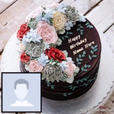Happy Birthday Cake For Sister With Name And Photo