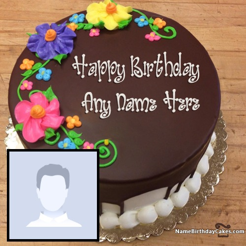 Excellent Get Chocolate Birthday Cakes For Boys With Photo And Name Funny Birthday Cards Online Alyptdamsfinfo