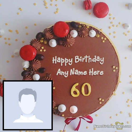 Magnificent Happy 60Th Birthday Cake Images With Name Photo Funny Birthday Cards Online Fluifree Goldxyz