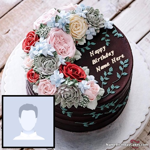 Happy Birthday Chocolate Cake With Name Edit