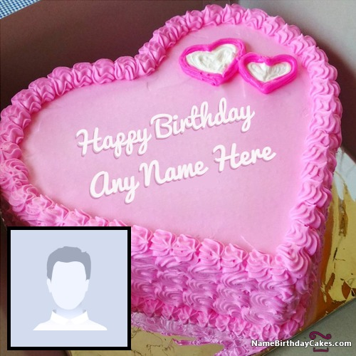 Astounding Romantic Birthday Cake For My Boyfriend With Photo Funny Birthday Cards Online Inifodamsfinfo